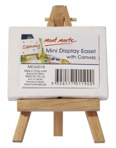 Picture of Mont Marte Mini Easel With Canvas 6X8cm