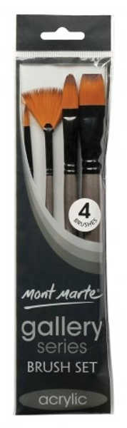 Picture of Mont Marte Gallery Series Brush Set 4Pk