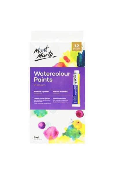 Picture of Mont Marte Premium Watercolour Paints 12pce x 8ml