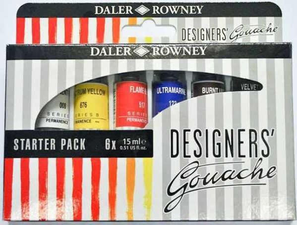 Picture of Daler Rowney Designers Gouache Process 6x15ml