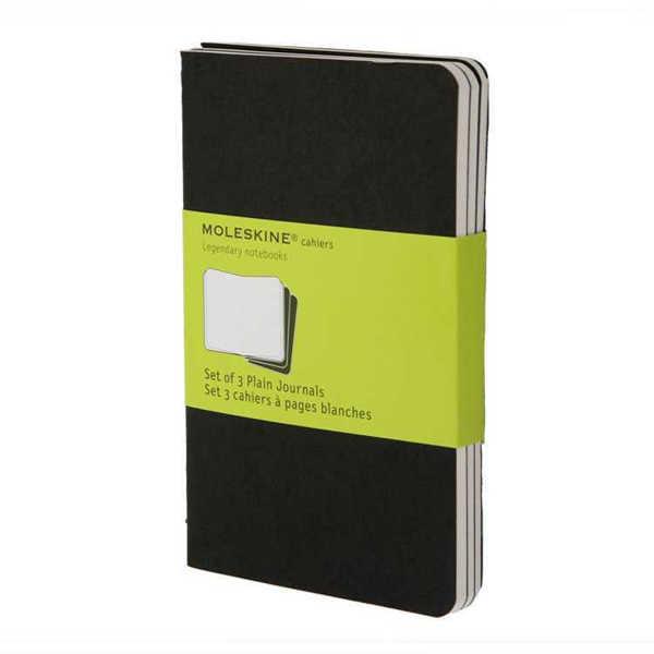 Picture of Moleskine Cahier Plain Journals 3pk Black Large 13x21