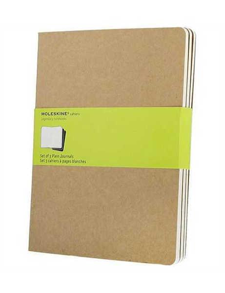 Picture of Moleskine Cahier Plain Journals 3pk Kraft Pocket 9x14