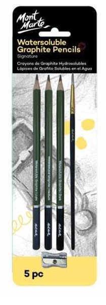 Picture of Mont Marte Signature Watersoluble Graphite Pencils 5pc