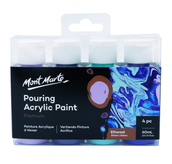 Picture of Mont Marte Pouring Acrylic Paint 60ml 4pc Set - Ethereal