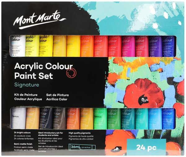 Picture of Mont Marte Studio Acrylic Paint Set 24pce x 36ml