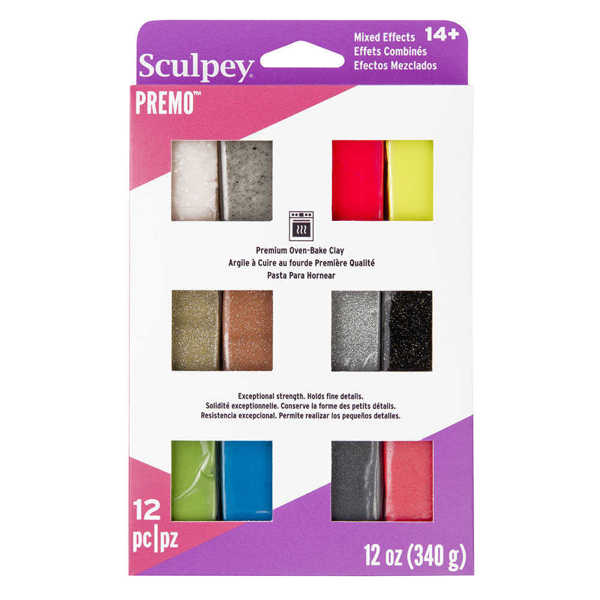 Picture of Sculpey Premo 12pk Sampler Set Effects Colours