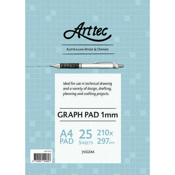 Picture of Arttec Graph Paper Pad 70gsm